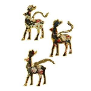 Imbarro Hanging Reindeers Rosalie versiering set van 3