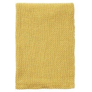 Klippan Basket Yellow, deken of plaid van organic cotton