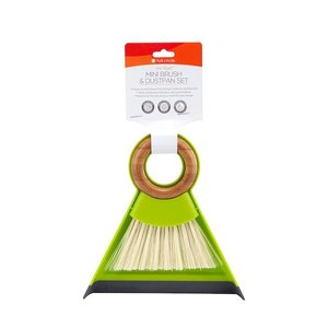 Full Circle mini stoffer en blik van gerecycled plastic en bamboe