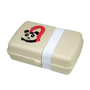 Zuperzozial bamboe lunchbox Flamingo en panda