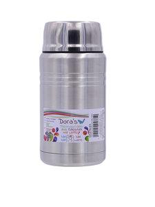 Biodora grote rvs thermobeker met lepel