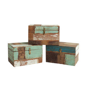 Raw Materials kistje van sloophout