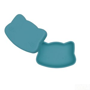 Donkerblauwe siliconen cat snackie in dusk blue