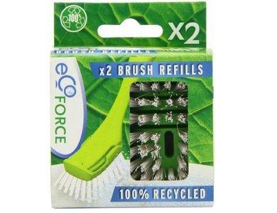 GreenPicnic vervangende borstel koppen voor Ecoforce afwasborstel set van 2