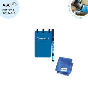 Blauw pocket Correctbook kladblokje bij Greenpicnic