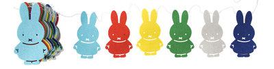 Miffy Felt Garland Bright colours fairtrade nijntje slinger bij GreenPicnic