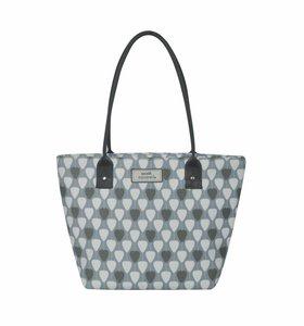 Tote bag Pale Blue lantarn van Earth Squared fairtrade canvas draagtas bij GreenPicnic