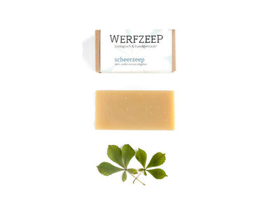 Werfzeep scheerzeep biologisch en met de hand gemaakt verkrijgbaar bij GreenPicnic