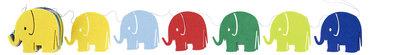 FairTrade Miffy Felt Garland Elephant - vilten Nijntje olifanten slinger van Global Affairs