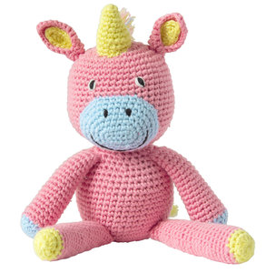 Global Affairs - Crochet Unicorn Pink Organic Cotton te koop bij GreenPicnic