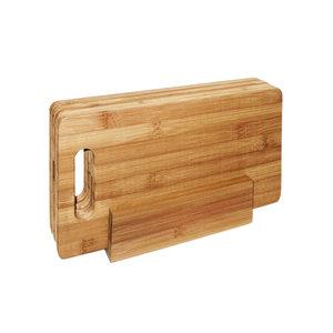 GreenPicnic - Point Virgule 4 ontbijtplankjes uit bamboe in houder