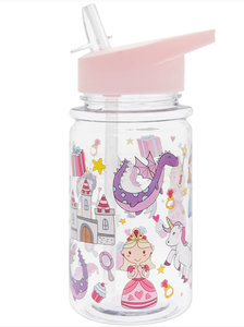 Water bottle Fairy Tale roze enkelwandige drinkfles van Lesser and Pavey