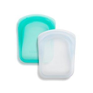 Stasher Bags Pocket Aqua and White 2-pack