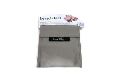 GreenPicnic - Keep Leaf lunch baggie XL Light Grey