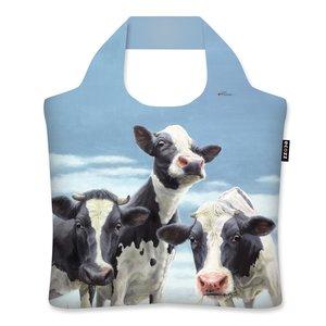 Dinnertime Ecozz tas van gerecycled plastic met opdruk van koeien