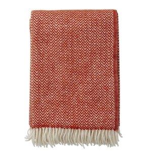 Klippan eco lamswollen deken Chavron Ruby Red