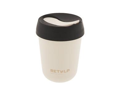 Retulp Travel Cup Night Black - PLA koffiebeker uit rietsuiker