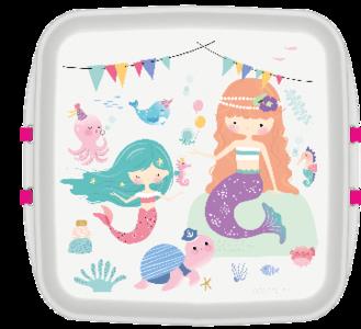 GreenPicnic, Bio plastic zeemeerminnen snack trommel van Biodora