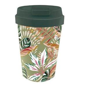 BioLoco Plant Easy Cup Leaves - Herbruikbare koffiebeker van bioplastic