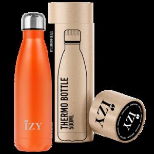 Oranje thermosfles van roestvrij staal - Izy Bottles