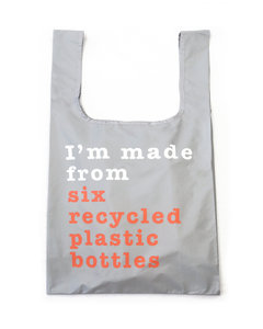 Kind Bag rPET shopper Recycle grey and coral