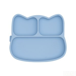 We Might be Tiny Stickie plate cat, blauw siliconen bordje