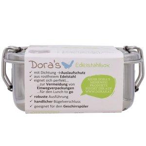 Vierkante RVS trommel met uitneembaar blad van Doras