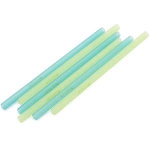 Kooleco reusable silicone straws blue and green - GreenPicnic