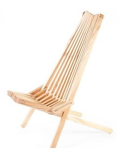 GreenPicnic Ecochair van naturel Larikshout