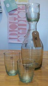 Pila Fairtrade glazen en karaf