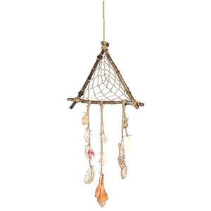 Fairtrade hanger van schelpen, hout en touw