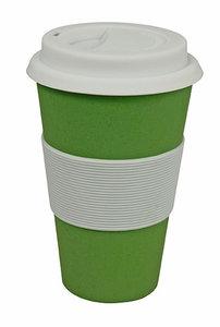 Zuperzozial groene bamboe koffiebeker