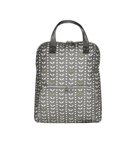Fairtrade rugzak canvas Grey Leaves