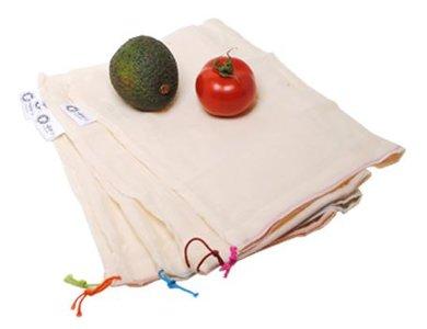 Ah Table herbruikbare fruit en groentezakjes van biologisch katoen