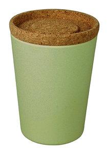 Zuperzozial bamboe voorraadbus met kurken deksel 1000ml