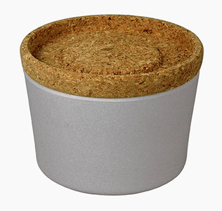 Zuperzozial bamboe voorraadbox met deksel van kurk