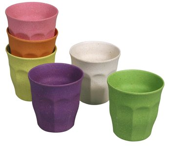 Zuperzozial cupful of colour rainbow bamboe bekers