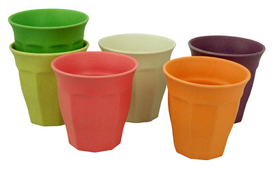 Zuperzozial cupful of colour, kleurige bamboe bekers