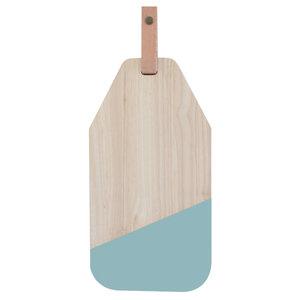Ecodesign fairtrade kaasplank rubberhout-blauw