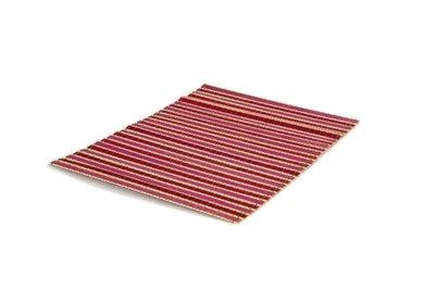 Fairtrade placemat bamboe roze/donkerroze