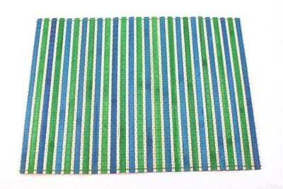 Fairtrade placemat, blauw-groen