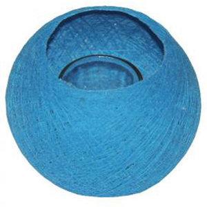 Fairtrade draadbal waxinehouder blauw