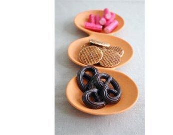 Zuperzozial snackschaal tripple o oranje
