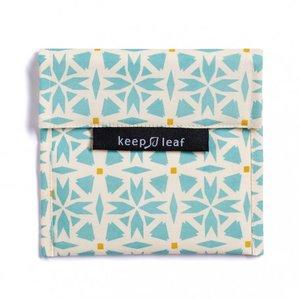 Keepleaf lunchzakje Geo, blauw-creme
