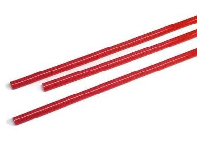 Rode rietjes PLA biologisch afbreekbaar