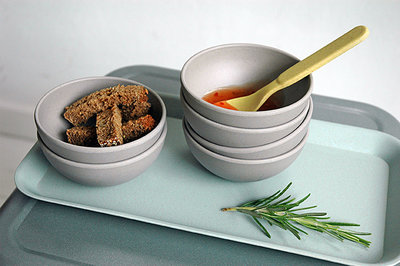 Zuperzozial tasty treats grijs snack kommetjes