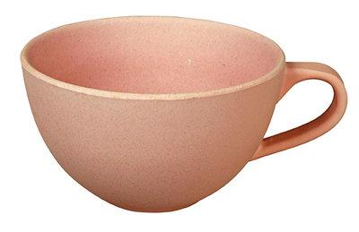 Zuperzozial soepkom met oor in roze