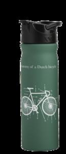 Groene Tulper drinkfles RVS 500ml