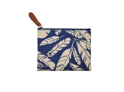 Fairtrade portmonnee Blue Feather