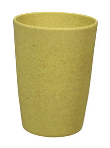 Zuperzozial bamboe beker geel